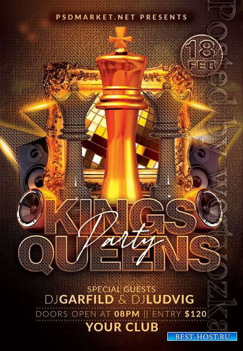 Kings queens - Premium flyer psd template