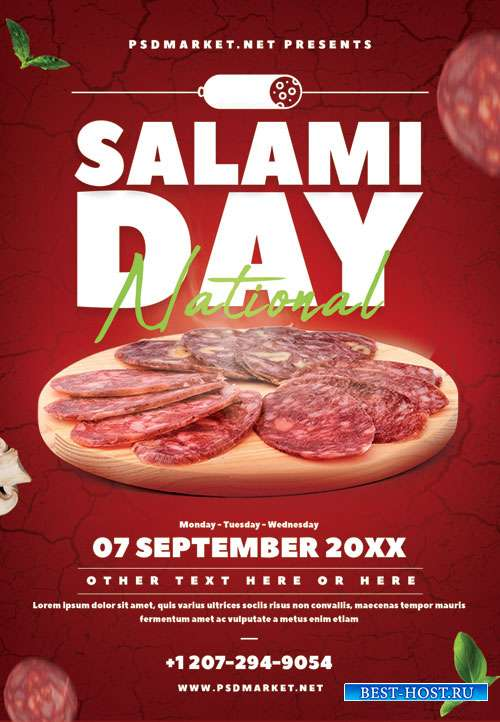 Salami day - Premium flyer psd template