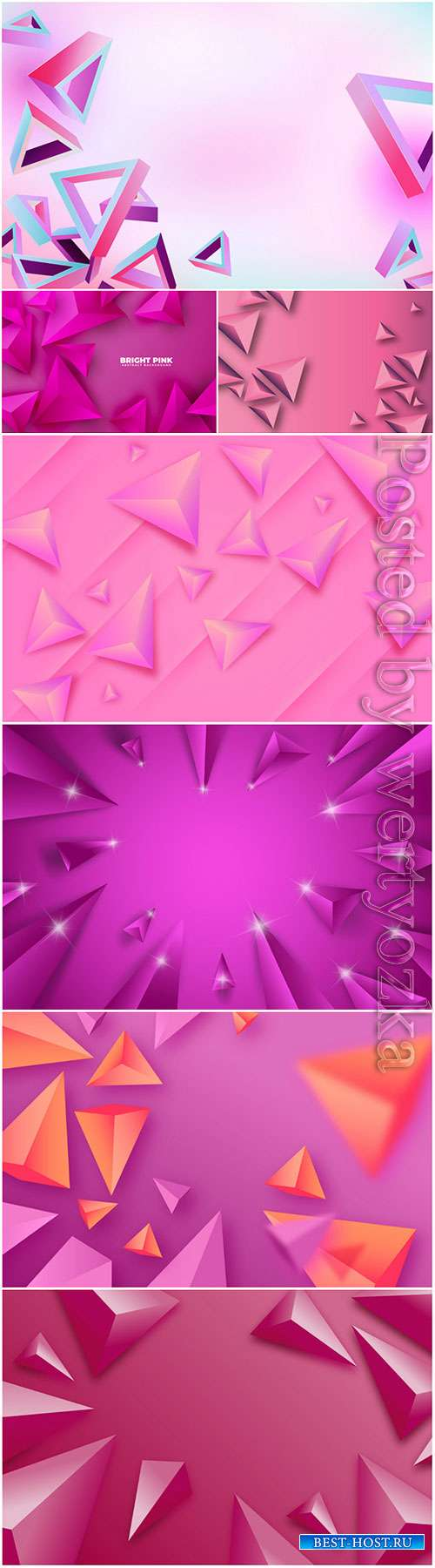 3d vector background with pink abstract elements