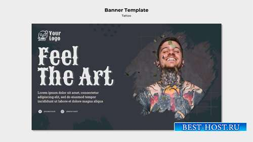 Banner tattoo artist template