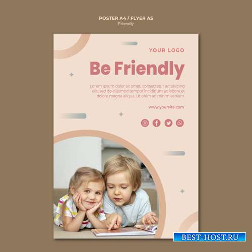 Be friendly flyer print template