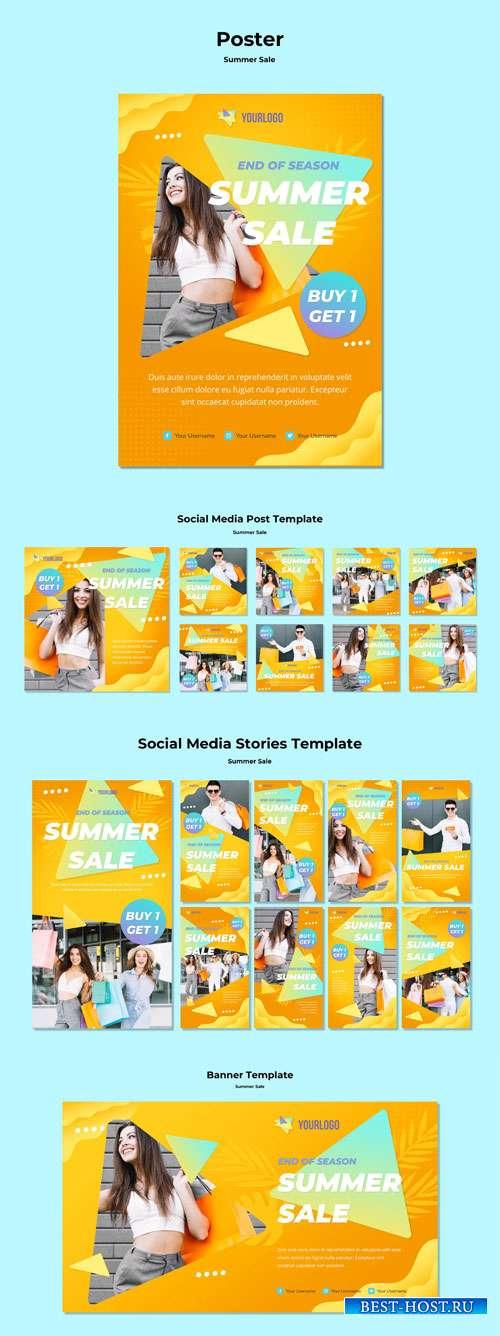 Summer sale social media posts