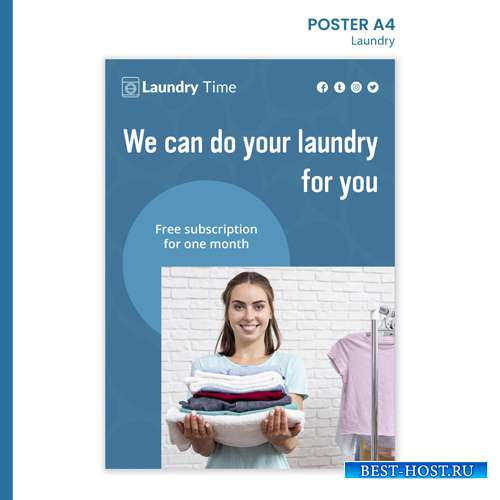 Laundry service template poster