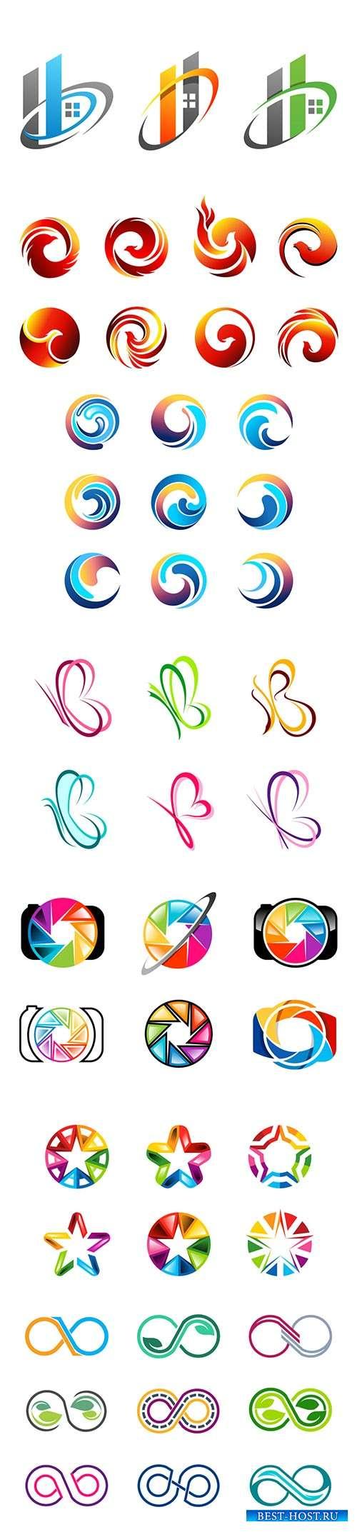 Logo vector template business set # 86