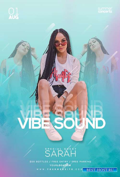 Vibe Sound - Premium flyer psd template
