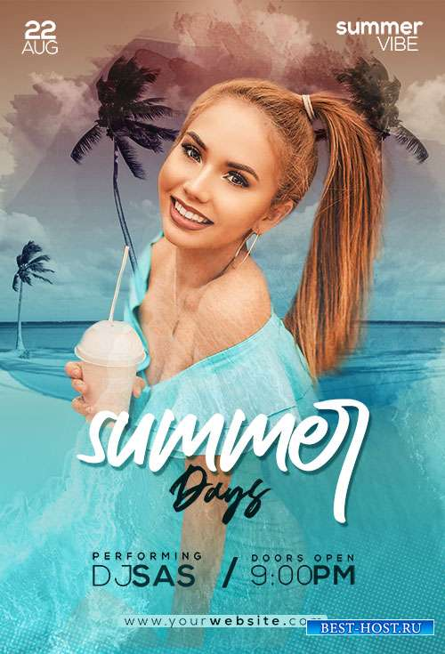 Summer Days - Premium flyer psd template