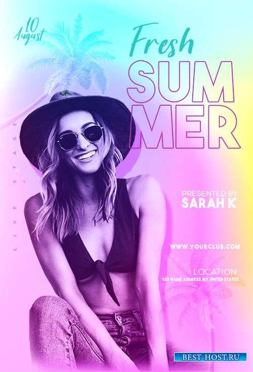 Fresh Summer - Premium flyer psd template