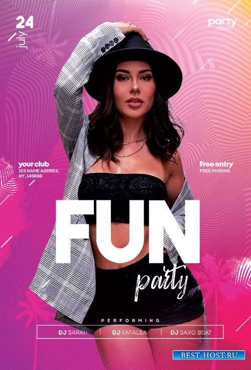 Fun Party - Premium flyer psd template