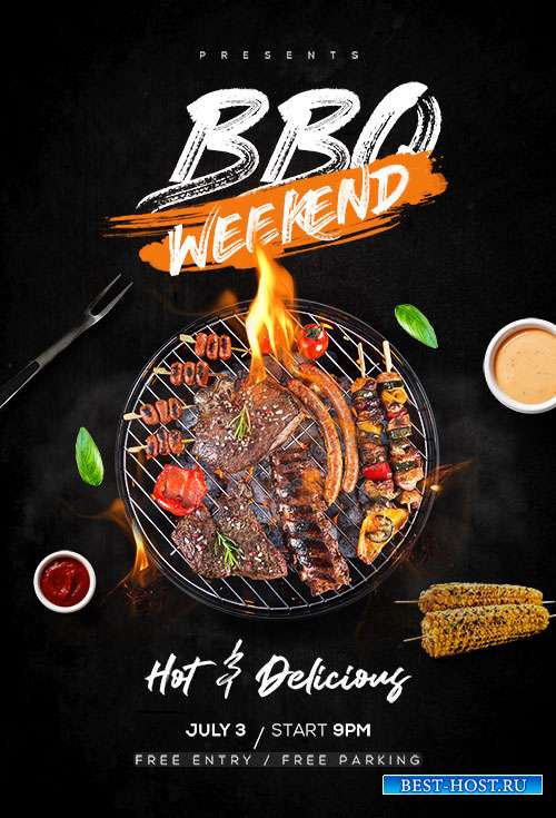 BBQ Weekend - Premium flyer psd template