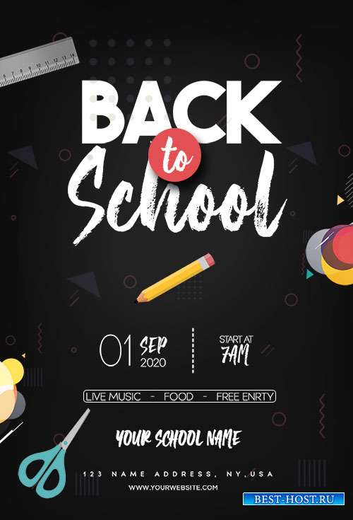 Back To School - Premium flyer psd template