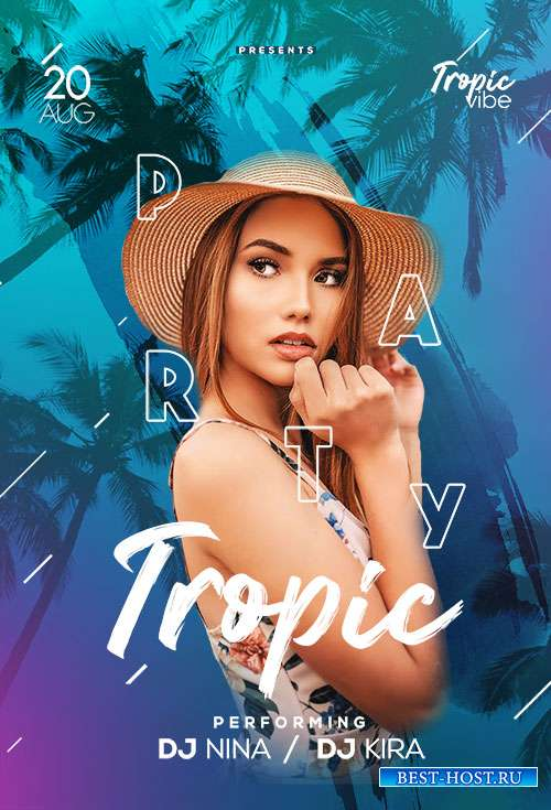 Tropic Party - Premium flyer psd template