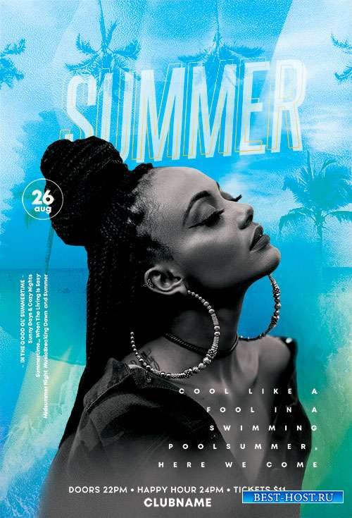 Summer Fun Event - Premium flyer psd template