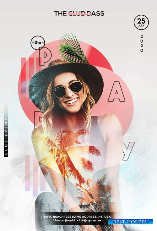 Party in Summer - Premium flyer psd template
