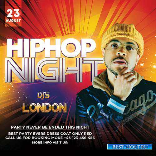 Hip Hop Night - Premium flyer psd template