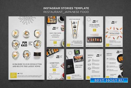 Make-up сollection of sushi templates for restaurant vol 2