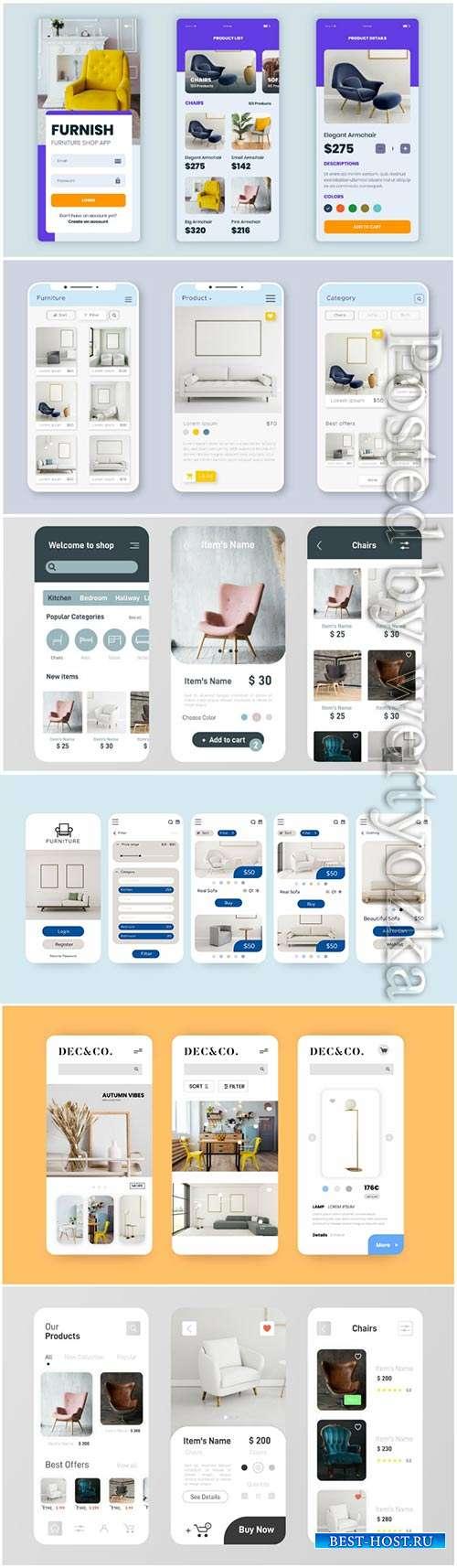 Furniture shopping app pack