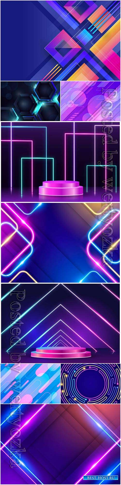 Abstract neon lights vector background