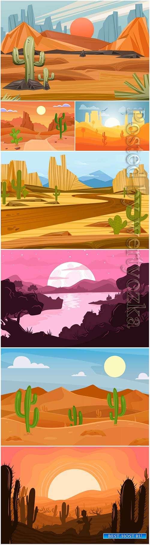 Desert landscape - background for video conferencing