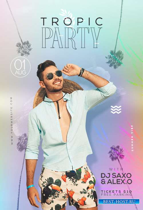 Tropic Party Event  - Premium flyer psd template