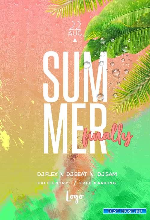 Summer Finally  - Premium flyer psd template