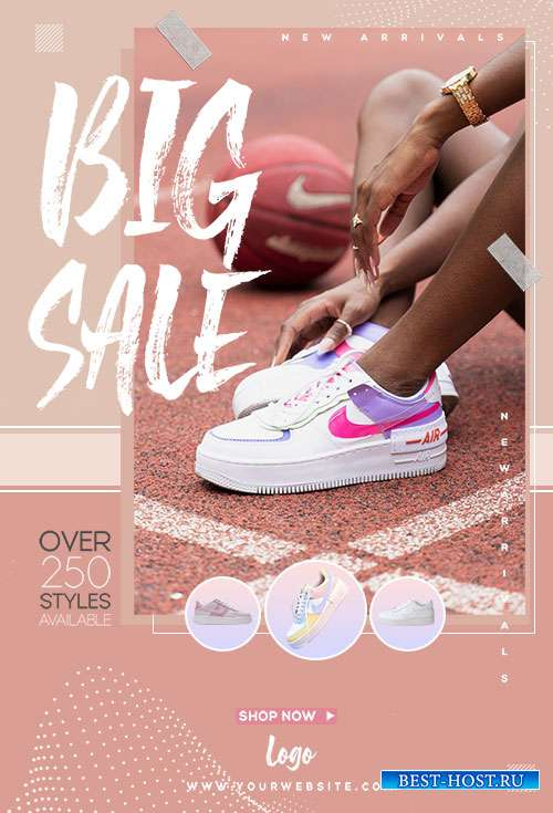 Shoes Sale  - Premium flyer psd template