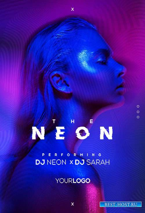 The Neon Vibe  - Premium flyer psd template