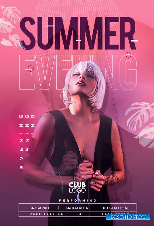 Summer Evening  - Premium flyer psd template