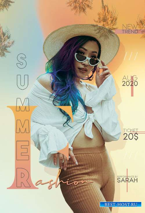 Summer Fashion  - Premium flyer psd template