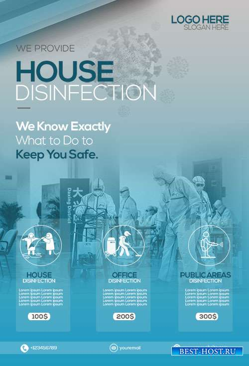 House Disinfection  - Premium flyer psd template