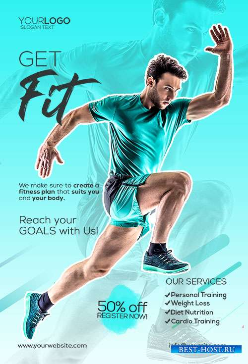 Gym and Fitness  - Premium flyer psd template
