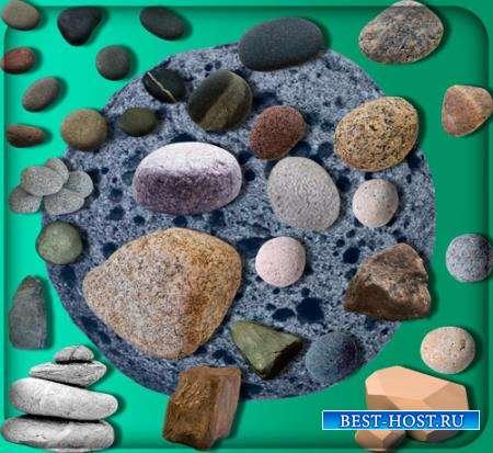 Прозрачные клипарты для фотошопа - Структурные камни