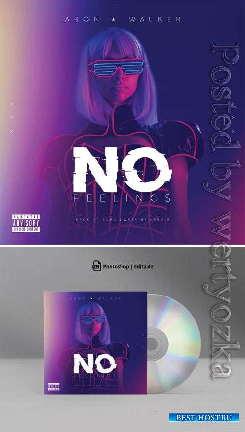 No Feelings Electro CD Cover Artwork