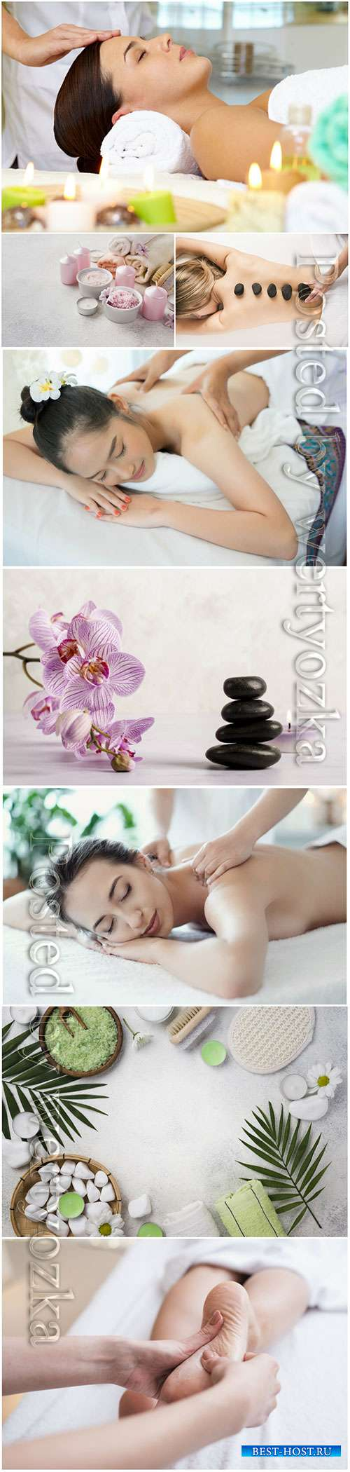 Spa set stock photo