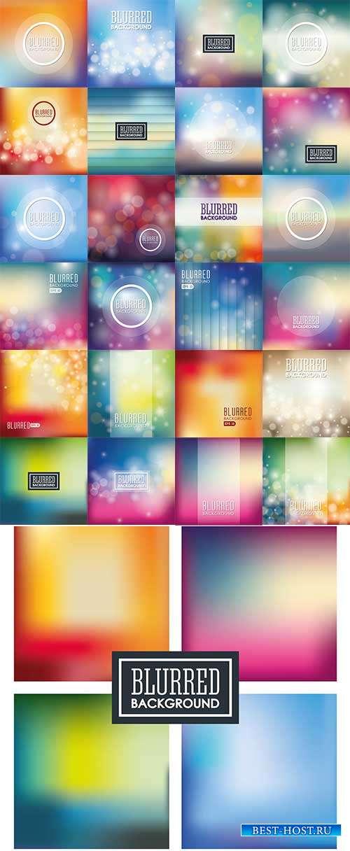 Разноцветные фоны в векторе