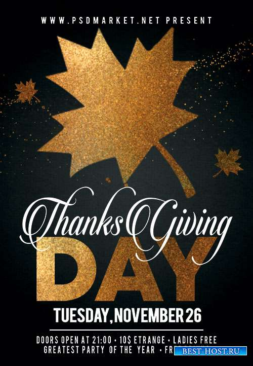 Thanks giving day - Premium flyer psd template