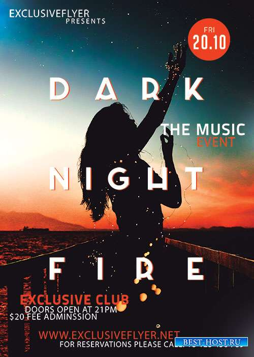 Dark night fire - Premium flyer psd template