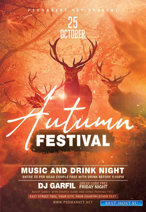 Autumn fest - Premium flyer psd template