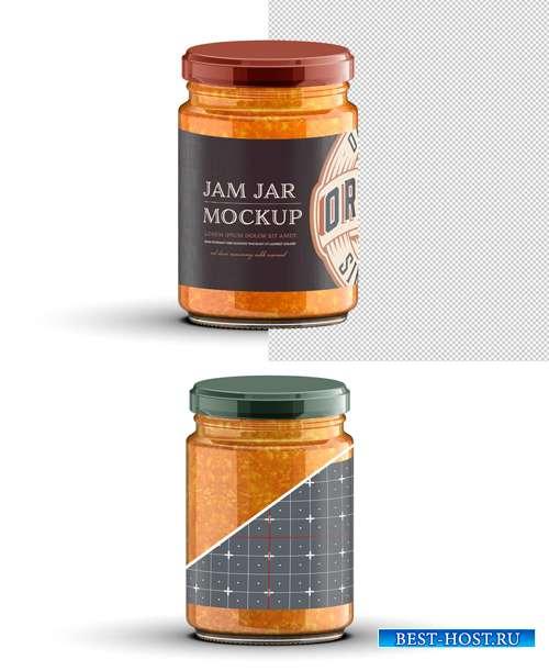 Vintage Style Jam Jar Mockup