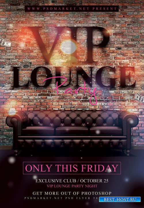 Lounge party - Premium flyer psd template