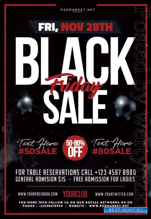 Black friday offer event - Premium flyer psd template