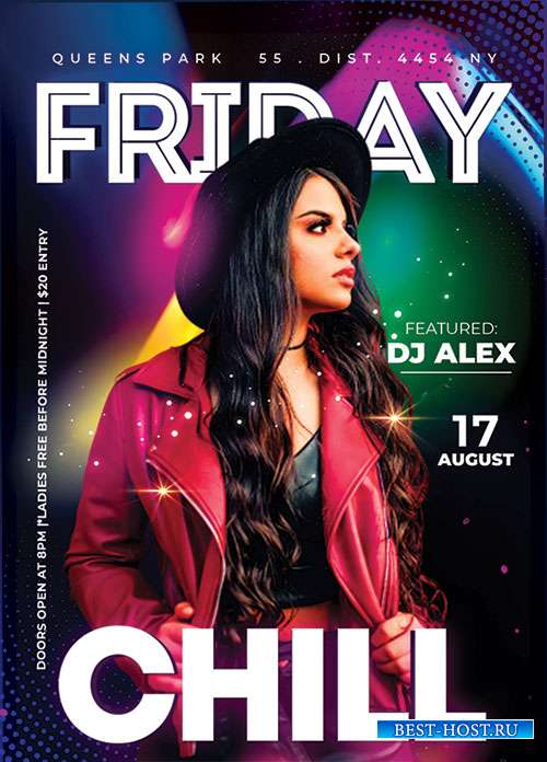 Friday Night Chill - Premium flyer psd template