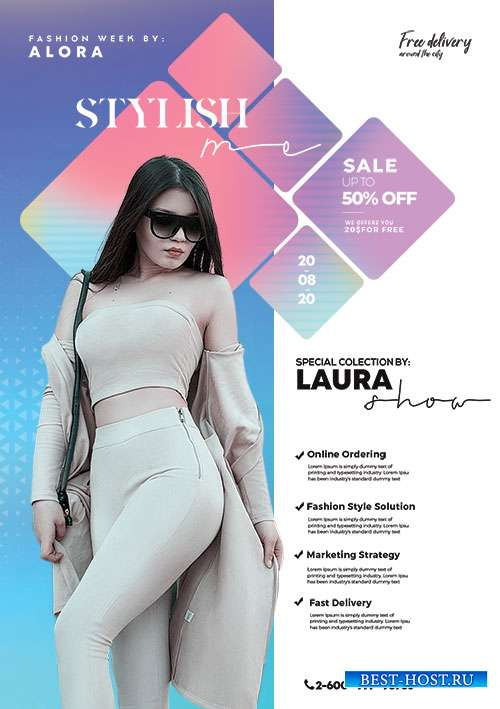 Fashion Summer Wear - Premium flyer psd template