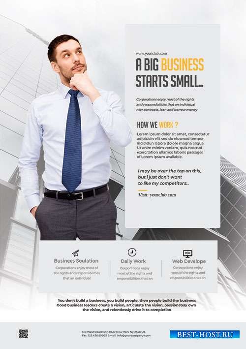 Clean Business Ad - Premium flyer psd template