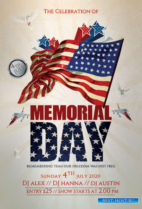 Memorial Day - Premium flyer psd template