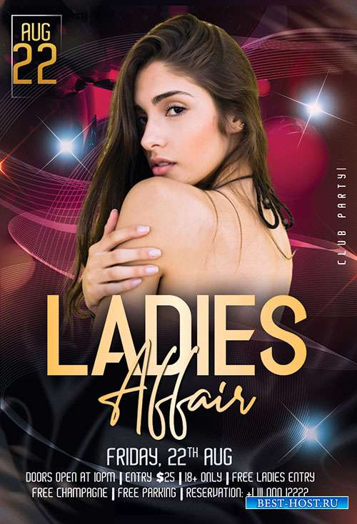 Ladies Affair - Premium flyer psd template