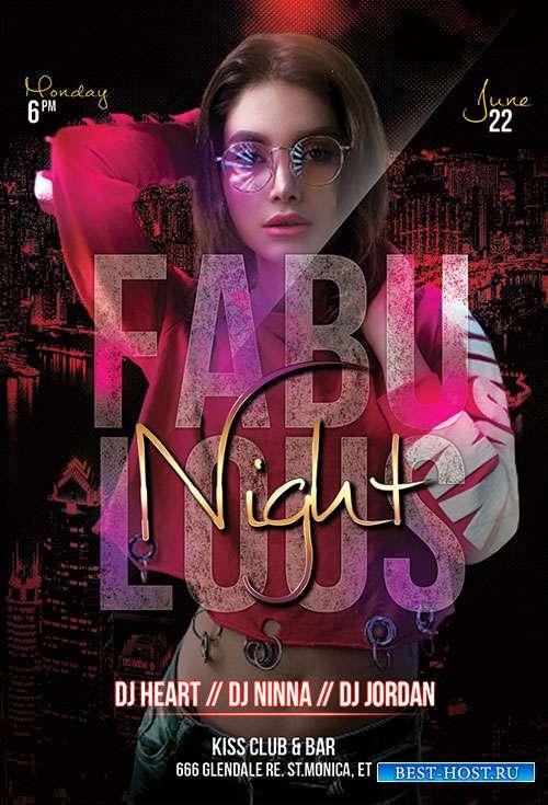 Fabulous Night - Premium flyer psd template