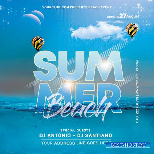 Beach Time - Premium flyer psd template