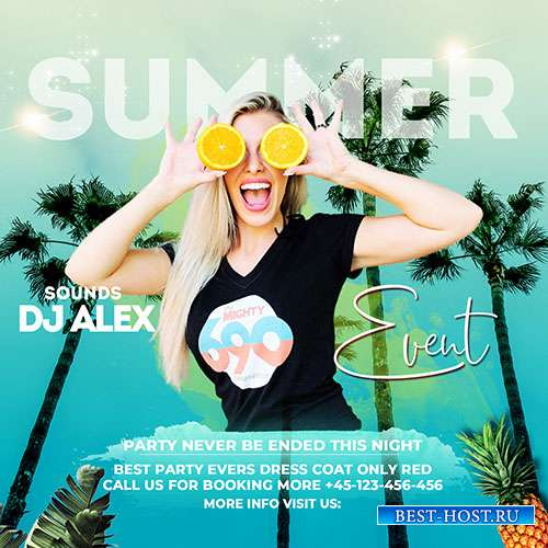 Summer Event - Premium flyer psd template