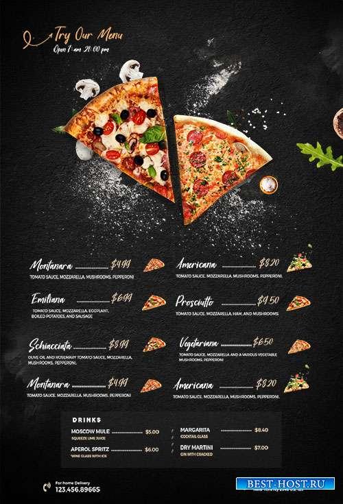 Restaurant Food Menu - Premium flyer psd template