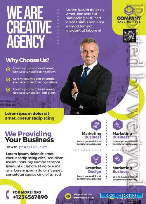 Modern Business Promotion Flyer PSD Template